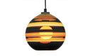 Banded Orb Pendant Mustard